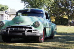 Classic Restored Green Chevrolet Royalty Free Stock Images