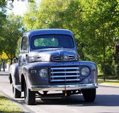 Classic Restored Grey Half Ton Truck. On city street Royalty Free Stock Photography