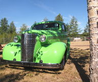 Classic Restored Lime Green Chevrolet Royalty Free Stock Photography