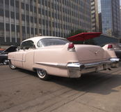 Classic Restored Pink Cadillac Royalty Free Stock Photography