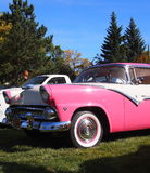 Classic Restored Pink And White Ford Fairlane Stock Photography