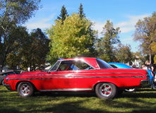 Classic Restored Red Dodge Polara Stock Photo
