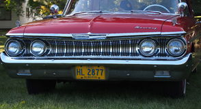 Classic Restored Red Mercury Grill Royalty Free Stock Photography