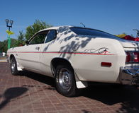 Classic Restored 1970s White Dodge Dart Stock Images