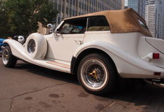 Classic Restored White Convertible Royalty Free Stock Photos