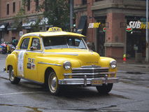 Classic Restored Yellow Taxi Stock Images