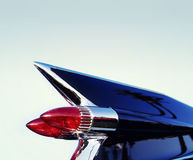 Classic retro 50's chrome car tail fin Stock Photo