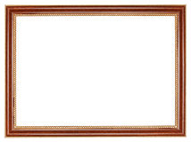 Classic retro brown wooden picture frame Royalty Free Stock Photos