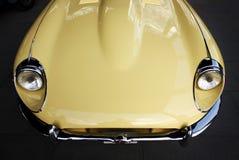 Classic retro car hood Stock Images