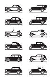 Classic and retro cars Royalty Free Stock Images