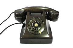 Classic retro dial style black house telephone Stock Image