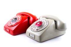 Classic 1970 - 1980 retro dial style telephones Stock Image