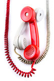 Classic 1970 - 1980 retro dial style telephones Royalty Free Stock Images