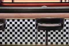 Classic Retro Diner Stools Stock Images