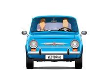 Free Classic Retro Illustration Fiat 500 650 And Passengers Royalty Free Stock Photo - 85885775