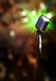 Classic retro microphone. With beautiful bokeh Royalty Free Stock Image