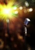 Classic retro microphone. With beautiful bokeh Royalty Free Stock Images