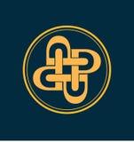 Classic and retro monogram logo. Classic and retro symmetrical style initial monogram logo Stock Photos