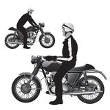 Classic retro motorcycle Royalty Free Stock Image