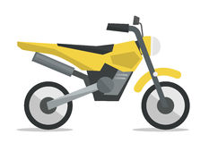 Classic retro motorcycle vector illustration. Royalty Free Stock Images