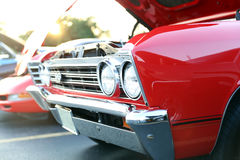 Classic retro  vintage red car Royalty Free Stock Photo