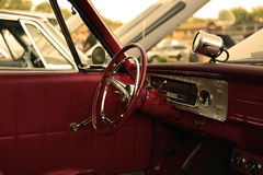Classic retro  vintage red car Stock Images