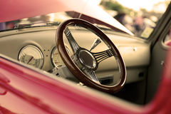 Classic retro  vintage red car Stock Photography
