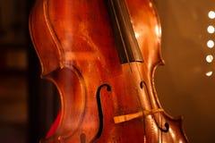 Classic retro violoncello close-up. Cello. Classical music stock images