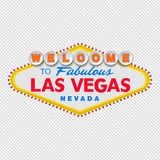 Classic retro Welcome to Las Vegas sign. Simple modern flat vector style illustration. royalty free illustration