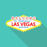 Classic retro Welcome to Las Vegas sign Royalty Free Stock Photography