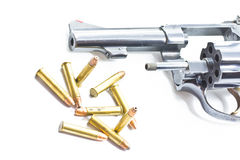 Classic revolver and bullets Stock Photography