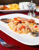 Classic risotto with the seafood Stock Images