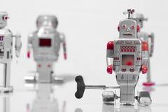 Classic robot toys. Retro Robot toys children old Royalty Free Stock Photo