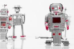 Classic robot toys. Retro Robot toys children old Stock Images