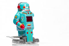 Classic robot toys. Retro Robot toys children old Royalty Free Stock Photo
