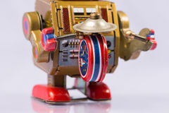 Classic robot toys Royalty Free Stock Images