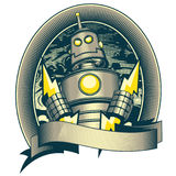 Classic Robot. Vector Drawing of a Classic Robot Royalty Free Stock Photos