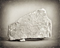 Classic rock. Limestone rock blank in antique style Stock Image