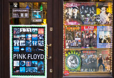 Classic Rock little shop in Cracow Poland Royalty Free Stock Images