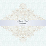 Classic rococo ornament design card Royalty Free Stock Photography