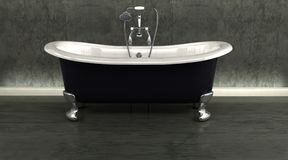 Classic roll top bath Royalty Free Stock Images