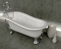Classic roll top bath Royalty Free Stock Image