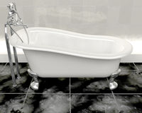 Classic roll top bath Royalty Free Stock Photo