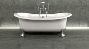 Classic roll top bath Royalty Free Stock Photos