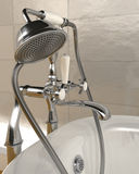 Classic roll top bath and taps Stock Image
