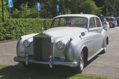 Classical Rolls Royce oldtimer, Holland Stock Image