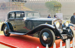 The Classic Rolls Royce Phantom III vintage saloon. New Delhi, India - February 6, 2016: Classic oldtimer Rolls Royce Phantom III 4-door sloon vintage car on Stock Photography