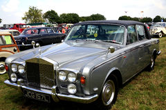 Classic Rolls Royce silver shadow II. A 1970s Classic Rolls Royce Silver Shadow II with an Everflex roof on display at the Moorgreen Country show Stock Photography