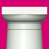 Classic Roman column on  pink background Royalty Free Stock Image