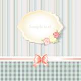 Classic romantic invitation or congratulation card Stock Photo